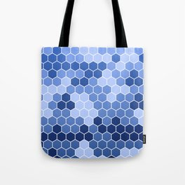 Honeycomb Blue Pattern | Geometric Shapes | Home Decor | Sapphire | For Him | For Her Tote Bag
