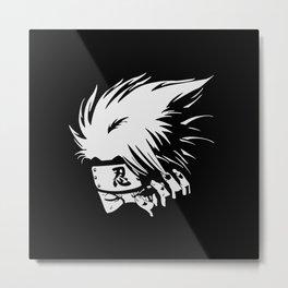 Kakashi Hatake Face Metal Print
