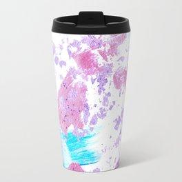 Pink and Blue Metallic Modern Abstract Travel Mug