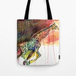 Galloping Giraffe Tote Bag