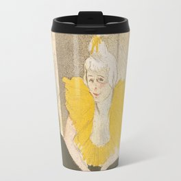 Henri de Toulouse-Lautrec The Seated Clowness Travel Mug