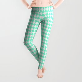 Rhombus (Aquamarine/White) Leggings