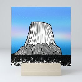 Devils Tower Mini Art Print