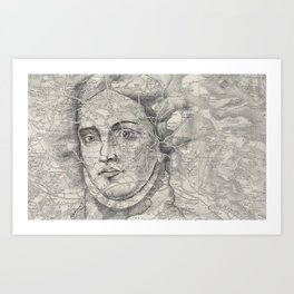 A Lady of Great Renown Art Print