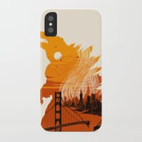 godzilla iPhone & iPod Cases featuring Godzilla  by tim weakland