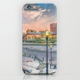 Winter Dreams - Providence, Rhode Island on a Winter's Day landscape iPhone Case