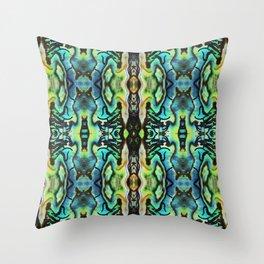 Abalone Symmetry Throw Pillow