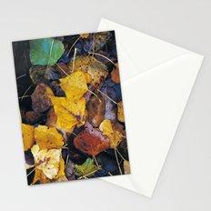 Rain leaves II Stationery Cards