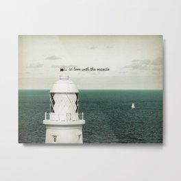 Seaside Lighthouse Metal Print