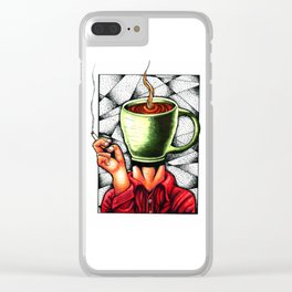 coffee head Clear iPhone Case