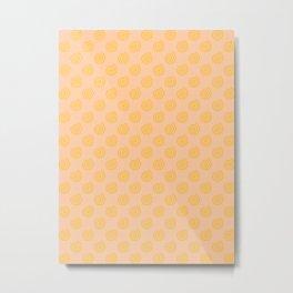 Amber Orange on Deep Peach Orange Spirals Metal Print