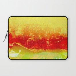 Vibrant Yellow Sunset Glow Textured Abstract Laptop Sleeve