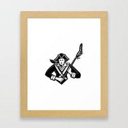 Girl Patriot Lacrosse Player Mascot Framed Art Print