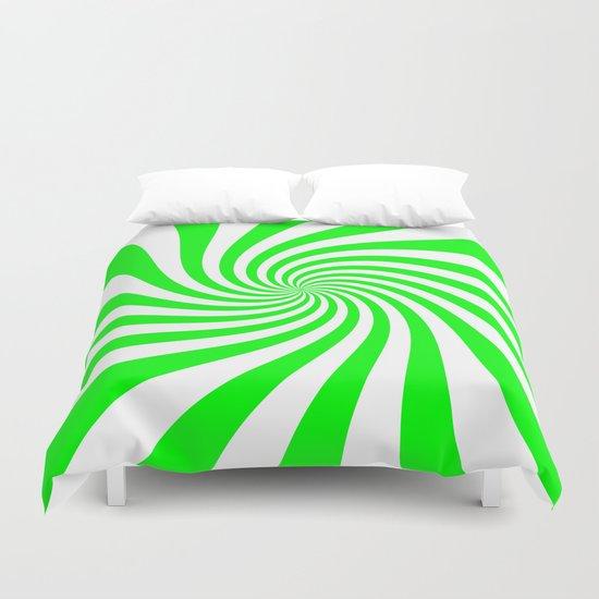 Swirl (Green/White) Duvet Cover