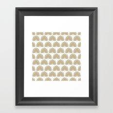White & Tan Daisies Framed Art Print