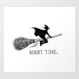 NIGHT TIME. Art Print