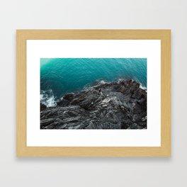 Cinque Terre Cliffs Framed Art Print