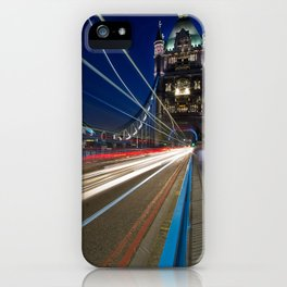 Tower Bridge, London  at night iPhone Case