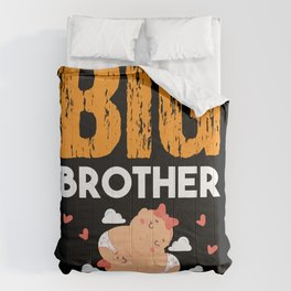 Big Brother Of Twin Girls Baby Siblings Comforters