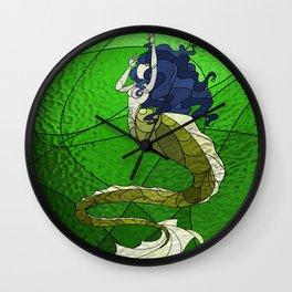 Primeval Mermaid (green) Wall Clock