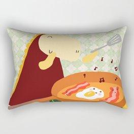 Baccon and eggs Rectangular Pillow