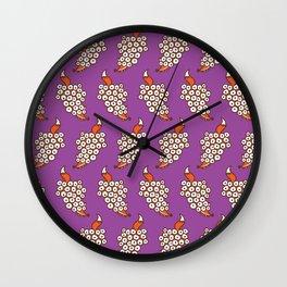 Grape Fox Wall Clock