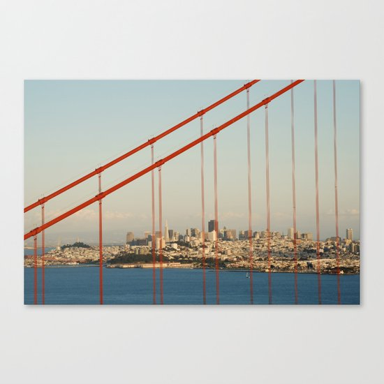 Golden San Gate Francisco Bridge Canvas Print