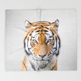 Tiger - Colorful Throw Blanket
