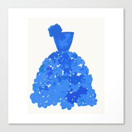 A Pretty Blue Dress Canvas Print