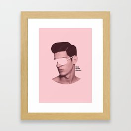 Rose Tinted Glasses Framed Art Print