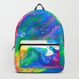 Rainbow Paint Splatter V3 Backpack