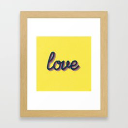 Love - yellow version Framed Art Print