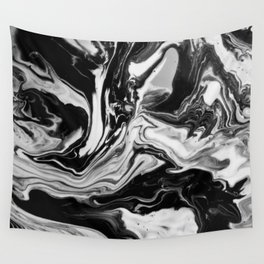 Black and White Marble  Wall Tapestry