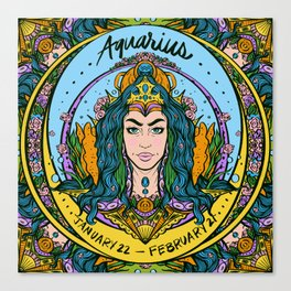 Zodiac: Aquarius  Canvas Print