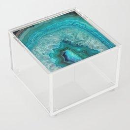 Teal Agate Acrylic Box