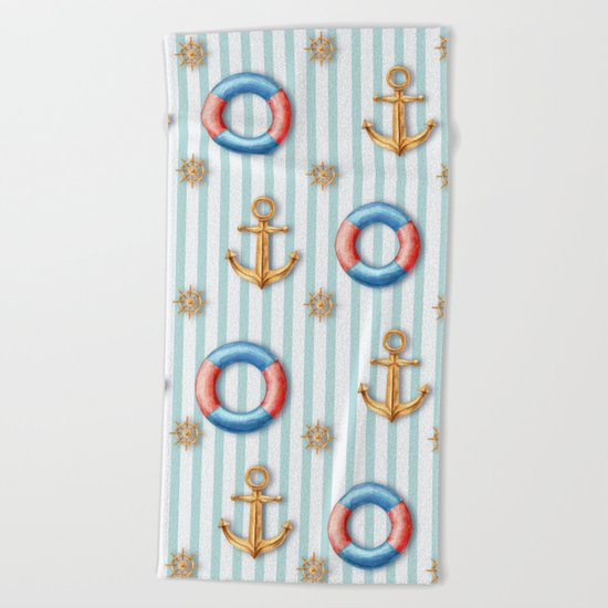 sea day  Beach Towel