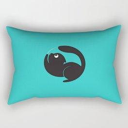 Cute Cat Circle Rectangular Pillow
