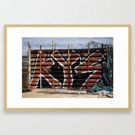 Star KYS Graffiti Wall Framed Art Print