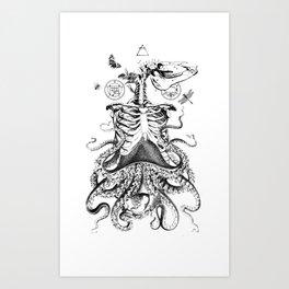 Engraving - Chimera_01 Art Print