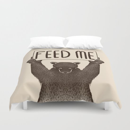 Feed Me Bear Duvet Cover