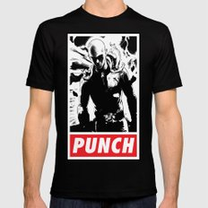 Punch Mens Fitted Tee X-LARGE Black