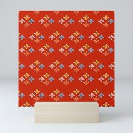 Las Flores - Red 02 (Patterns Please) Mini Art Print