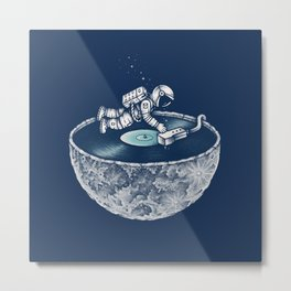Space Tune Metal Print