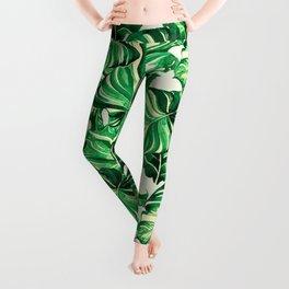 Pattern leaf exotic Leggings