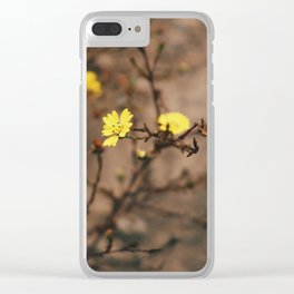 Blooming Yellow Flowers Clear iPhone Case
