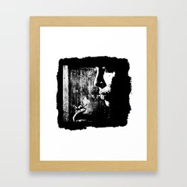 SMOKE - black version Framed Art Print