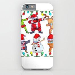 Merry Quarantine Christmas Santa Reindeer Mask Family Pajama iPhone Case