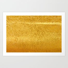 Crinkled Gold Foil Texture Christmas/ Holiday Art Print