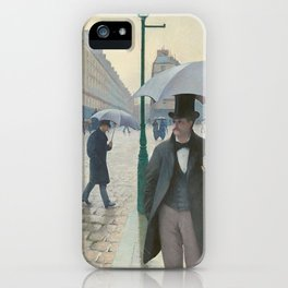 Gustave Caillebotte - Paris Street; Rainy Day iPhone Case