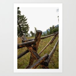 wooden fence in the Rockies Art Print
